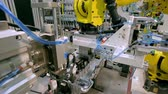 mechanikus : Robotic Arm production lines Stock mozgókép