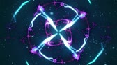 starburst : Abstract shining particle flower 3D animation. Vibrant fireworks light symmetric glowing patterns flow in waves. Colorful motion graphics overlay graphic VFX element with alpha channel matte included