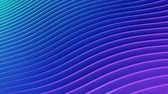 Rows of colorful blue and pink stripes waving and swaying seamless loop. Geometric abstract background with bright strips rippling 3D animation. Vibrant looping motion graphics backdrop in 4k Stockvideo