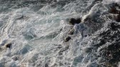 Storm Surf in black sea near Sozopol Stok Video