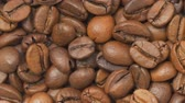 brewed : Roasted coffee beans. Selective focus.