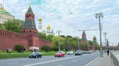 second avenue : MOSCOW RUSSIA  MAY 11 2015: The walk on Kremlin Embankment along the medieval walls of the most famous citadel of Russia on May 11 in Moscow.