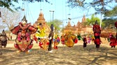 loutka : The authentic Burmese string puppets in colored clothes in street market of Bagan archaeological site, Myanmar.