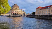 BERLIN, GERMANY - OCTOBER 3, 2019: Bode Museum on Spree river is a fine example of German Neo-Baroque style in architecture, so popular among boat sightseeing visitors, on October 3 in Berlin