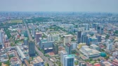 dálnice : BANGKOK, THAILAND - APRIL 24, 2019: Full circle timelapse from Baiyoke Tower II observation platform with a view on modern skyscrapers, Expressway, Tollway and highway roads, on April 24 in Bangkok Dostupné videozáznamy