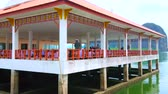 škola : KO PANYI, THAILAND - APRIL 28, 2019: The stilt building of the school of Muslim vilage, children have their classes in open air terace, on April 28 in Ko Panyi