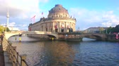 deutschland : BERLIN, GERMANY - OCTOBER 3, 2019: The outstanding Bode Museum building is located on Museum Island and rises above the Spree river, on October 3 in Berlin