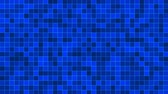 Mosaic pattern of blue. Geometric square tiles. Seamless loop background. Wideo