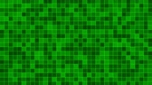 Mosaic pattern of green. Geometric square tiles. Seamless loop background. Wideo