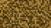 Mosaic pattern of brown. Geometric square tiles. Seamless loop background. Wideo