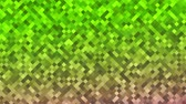 dachówka : Mosaic pattern of green gradient. Geometric rhombus tiles. Seamless loop background. Wideo