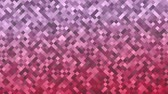 Mosaic pattern of pink gradient. Geometric rhombus tiles. Seamless loop background. Wideo