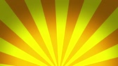 Rotating half sunburst. Radial ray. Seamless loop. Abstract motion background.