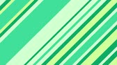 hat : Diagonal green stripes change and move. Abstract geometric background. Seamless loop. Stok Video