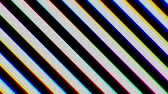 fronteira : Striped black and white of diagonal. Chromatic aberration. Seamless loop.