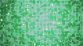discotheque : Shining spangles of green. Dot lights reflecting and sparkling. Seamless loop.