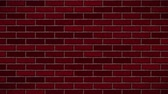 ziegel : Breaking red brick wall. Black and green background. All collapse. Videos
