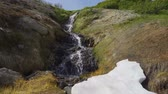 apressando : Beautiful view of the waterfall. Stock Footage