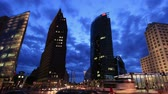 Berlin - Potsdamer Platz - Time Lapse Stock Footage