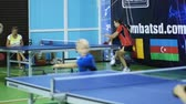 Russia, Anapa, 2018: Summer gathering of young athletes in table tennis. Competitions in between the children. Preparation for competitions in table tennis Wideo