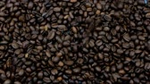 fragrant roasted coffee beans fall