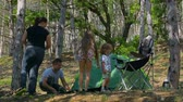 barbaric : Mom and Dad collected a tent. Kids in the woods