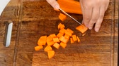 Cut the carrots into cubes