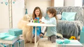 favorito : The dog is suitable for playing with children Stock Footage