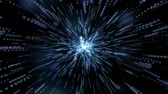 Abstract blue explosion star with lines and lines. Stock Footage