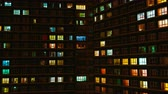 apartamentos : Light in the windows of a multistory building. Time lapse Vídeos