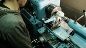 공학 : Turner is working on a turning lathe at the metal constructions factory. Metal industry 무비클립