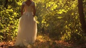 conto : Beautiful Young Princess Walking Forest Fairy Tale Concept HD