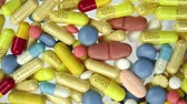 antibiótico : Medical Pills Falling Covering Pharmacy Concept