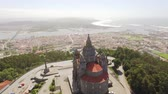 Drone View Landscape Santa Luzia Church Aerial Portugal Travel Architecture Sanctuary Viana Do Castelo Southern Europe Dome Old Famous Historic