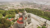 Portugal Drone View District Santa Luzia Church Aerial Landscape Travel Architecture Sanctuary Viana Do Castelo Dome Old Famous Historic Southern Europe
