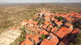 telhados : Aerial Community Landscape View Travel Nature Residential Dwelling Crowded Trees Historic Drone Roof Portugal Europe Tourism 4K Famous History