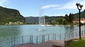 fronteira : Time Lapse of Fountain on Lake Lugano - Ceresio in Lavena Ponte Tresa, province of Varese, Italy