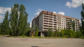 deserted : The Time-lapse of deserted town Chernobyl Stock Footage