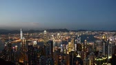 Night view of Hong Kong Wideo