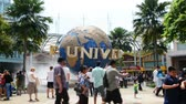 Singapore - AUGUST 5, 2014: Universal Studios Singapore on August 5 in Singapore. Universal Studios theme park in Singapore is popular tourist attraction