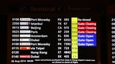 Singapore - AUGUST 5, 2014: Information board at Changi airport on August 5 in Singapore. Changi airport is one of the best airports in the world