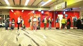 Singapore - AUGUST 5, 2014: Boarding line at Changi airport on August 5 in Singapore. Changi airport is one of the best airports in the world