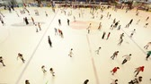 Dubai - AUGUST 7, 2014: Dubai Mall Ice Rink on August 7 in Dubai, UAE. Ice Rink in Dubai Mall is popular attraction Stock Footage