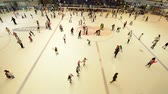Dubai - AUGUST 7, 2014: Dubai Mall Ice Rink on August 7 in Dubai, UAE. Ice Rink in Dubai Mall is popular attraction Wideo