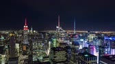 koninginnedag : Empire State Building en Times Square Manhattan New York Night Timelapse