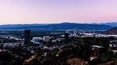 burbank : Universal City, Burbank and Studio City Day to Night Sunset Timelapse