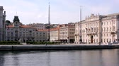 人 : View of Piazza Unità in Trieste, Italy, from the Sea
