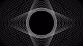 curva : Spiral Slow flowing black and white particle vector abstract background Computer Designed Animation - uhd ultra hd 4k 4096 quad. Vídeos