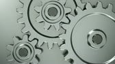 cog : Rotating gears on steel background