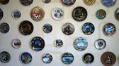 weathered : the collection of plates from different countries Stock Footage